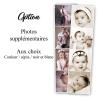 Photographies en marque-page pour faire-part de naissance Made in France