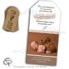 Annonce de naissance illustrée ecureuil et étiquette personnalisée de la date