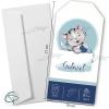 Annonce de naissance artisanal avec petit chat et enveloppe fournie
