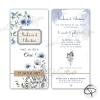 Invitations de mariage fleurs des champs papier allongé vertical
