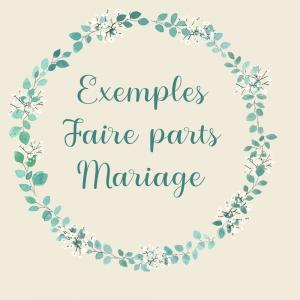 Aperçu de faire-parts de mariage entièrement personnalisables sur mesure