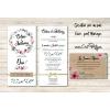 Encarts carton originaux pour inviter la famille et les amis à vote mariage
