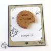 Merci maîtresse écrit sur un biscuit modelé à la main