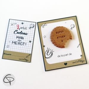 Magnet en forme de biscuit à offrir en cadeau aux atsem