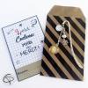 Marque-page bijou pour livre avec breloque fleur et pampille ronde blanche