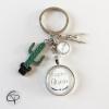 Porte-clef atsem cadeau original personnalisable prénom enfant