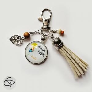 Porte-clef personnalisable avez dessin d'enfant dans un médaillon
