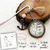 Marque-page personnalisé avec dessin d'enfant