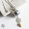 Collier bola de grossesse décoré véritable petit coquillage