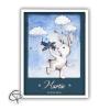 affiche de naissance personnalisée avec le doudou du bébé