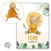 tableau lion roi de la savane composé en recopiant le doudou d'un bébé