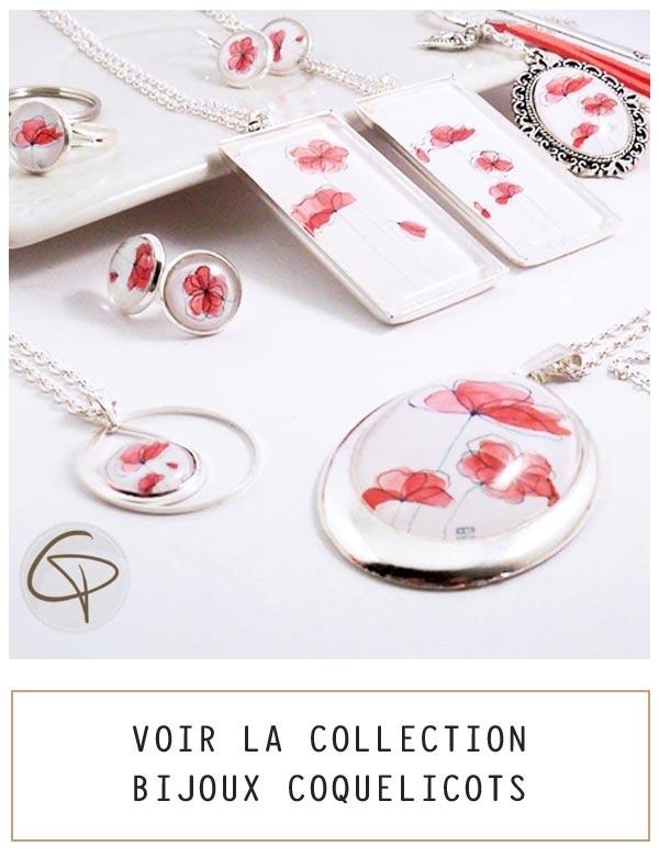Bijoux coquelicots
