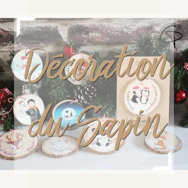 Suspensions en bois personnalisables pour décorer le sapin de Noël