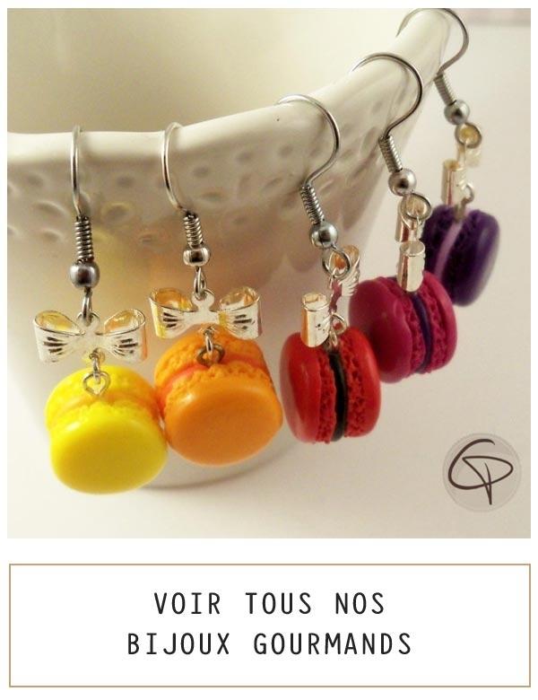 Macarons et bijoux gourmands