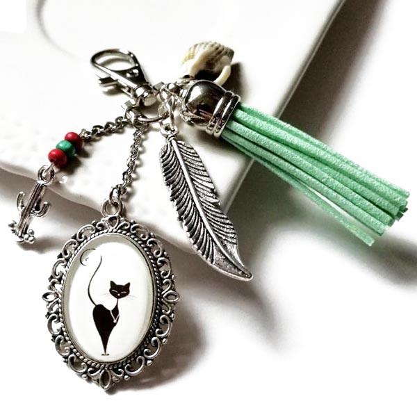 Bijoux de sac à main porte-clefs accessoires de mode pour femme