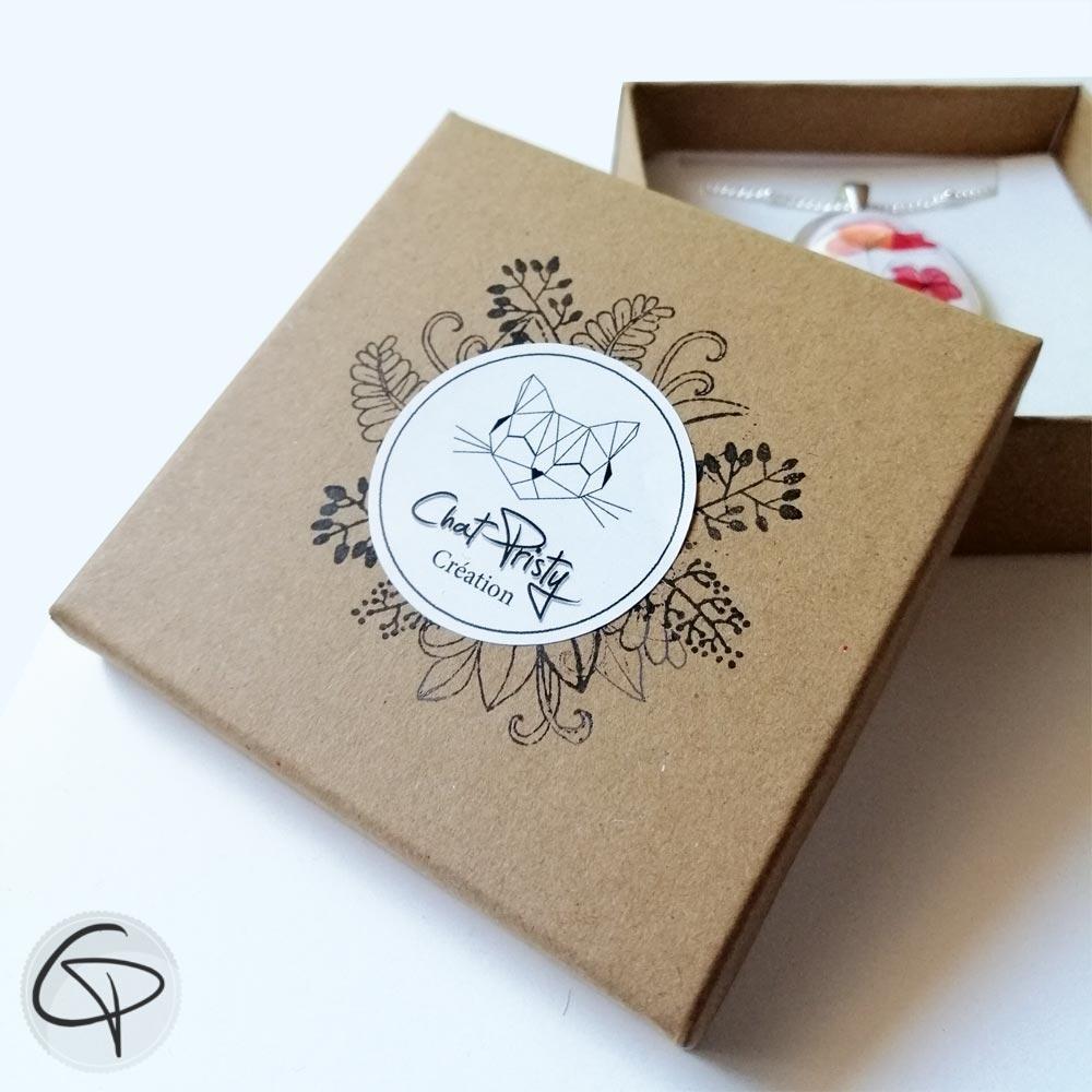Boîte à bijou de sac coquelicot pour offrir en cadeau