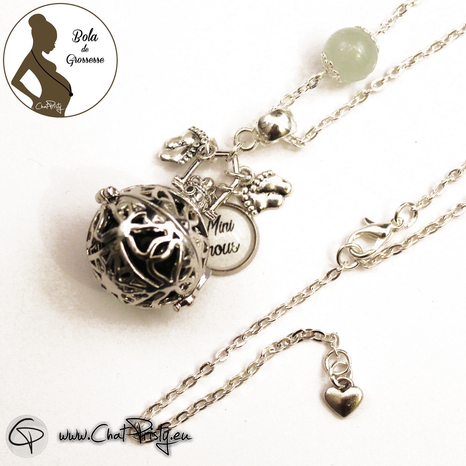 bijou de grossesse femme enceinte bol de grossesse gémellaire à personnaliser avec un mot tendre