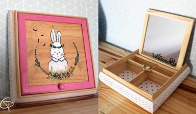 Cadeaux anniversaire enfant cadeau original et personnalisé Chat Pristy boite à souvenir trésors