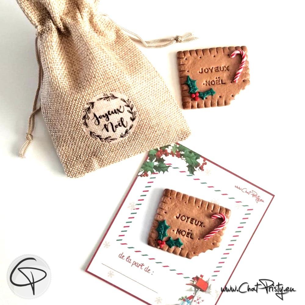 Offrez un biscuit aimanté et personnalisé avec un prénom pour faire plaisir à Noël