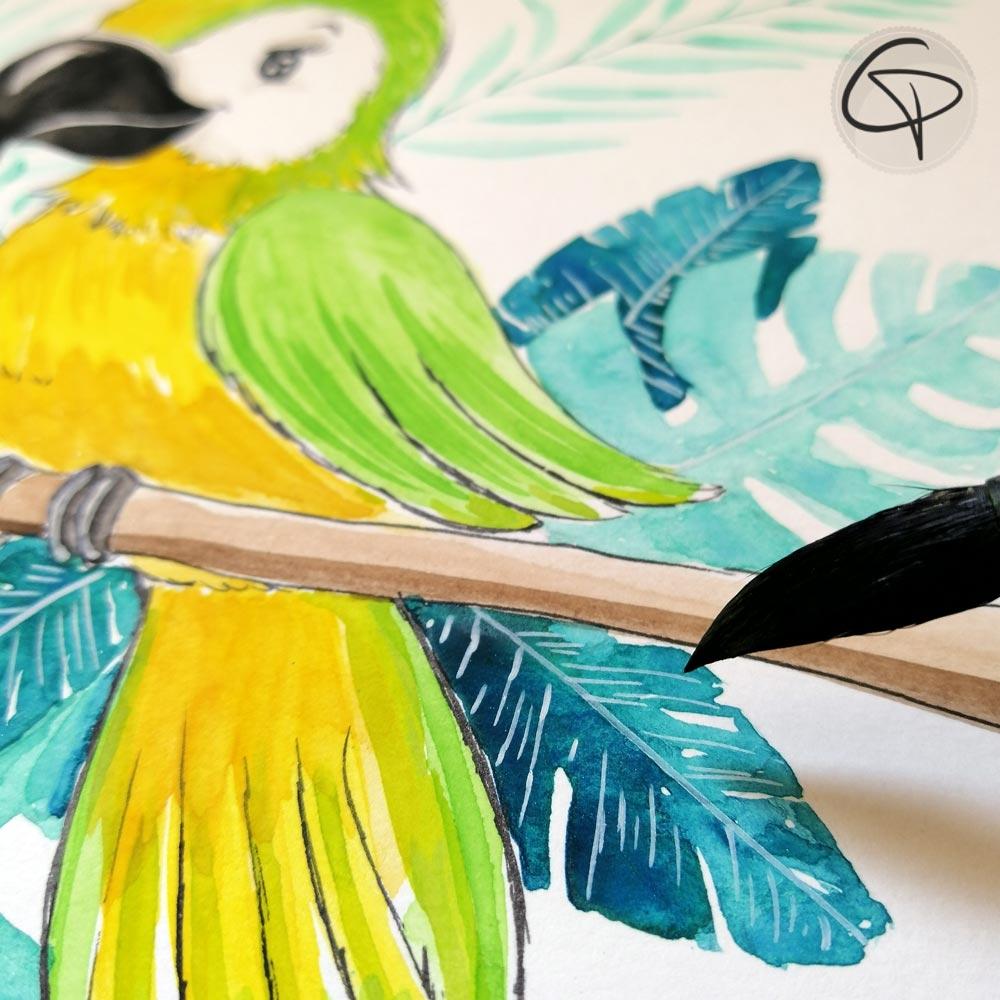 Illustration ara réalisée à la main par notre créatrice Chat Pristy