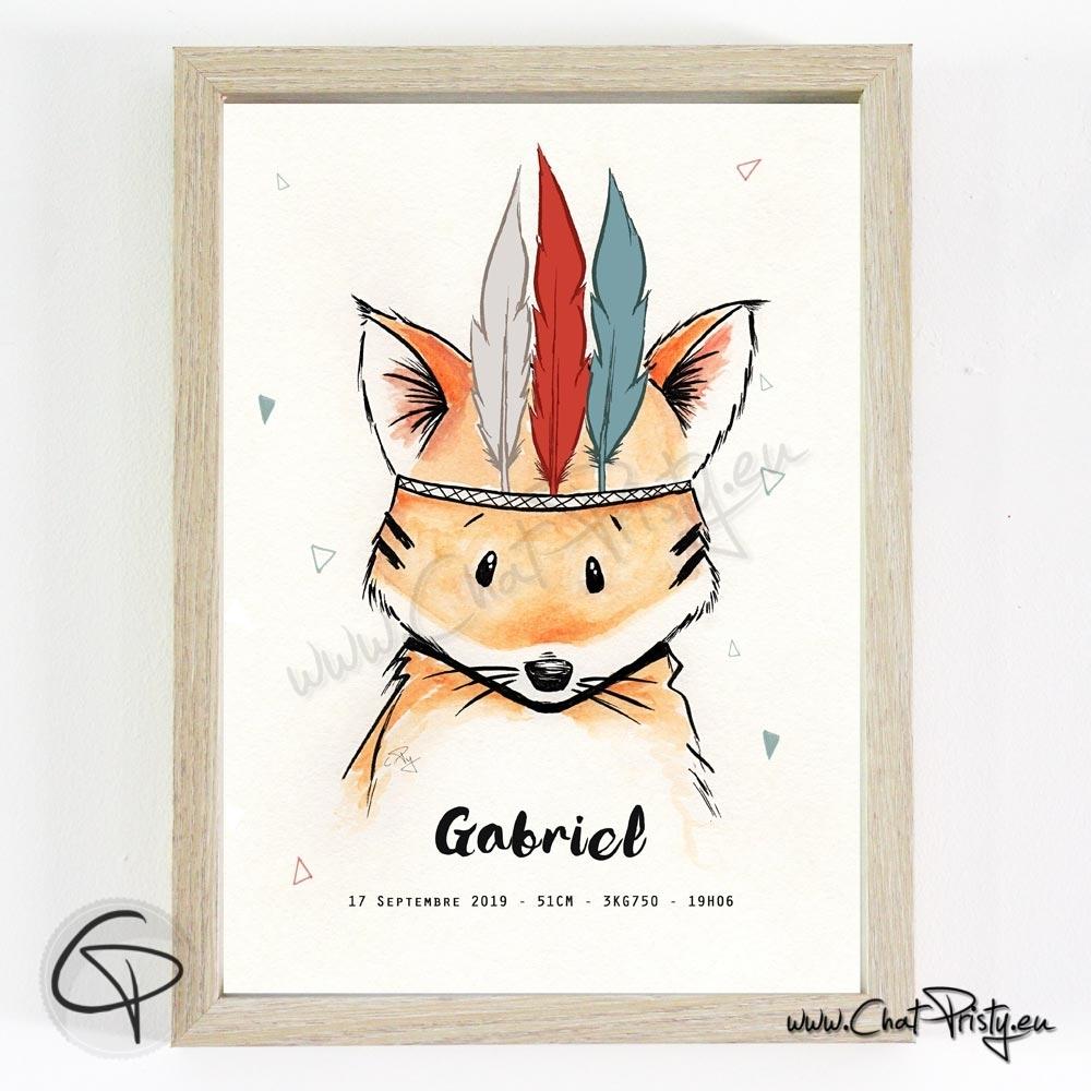 Immortaliser la naissance de votre enfant avec un renard personnalisé de son prénom