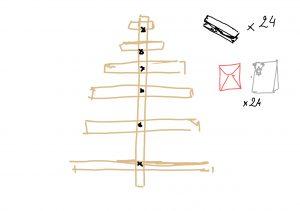 Schema tutoriel Calendrier de l'Avent en bois