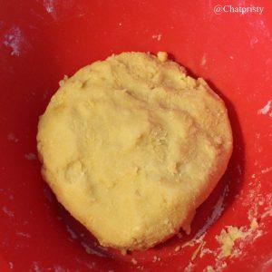 boule de pâte des butter bredele