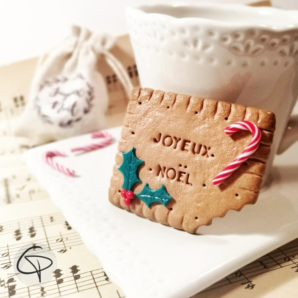 Biscuit Joyeux Noël personnalisable fait main aimanté